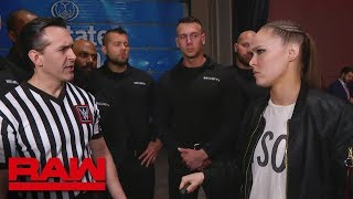 WWE management assigns security to Ronda Rousey: Raw, March 18, 2019