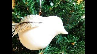 ¿Cómo hacer colgadores navideños de aves con repujado en aluminio?