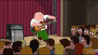 Peter Griffin Tunes A Guitar In Front Of A Live Audience
