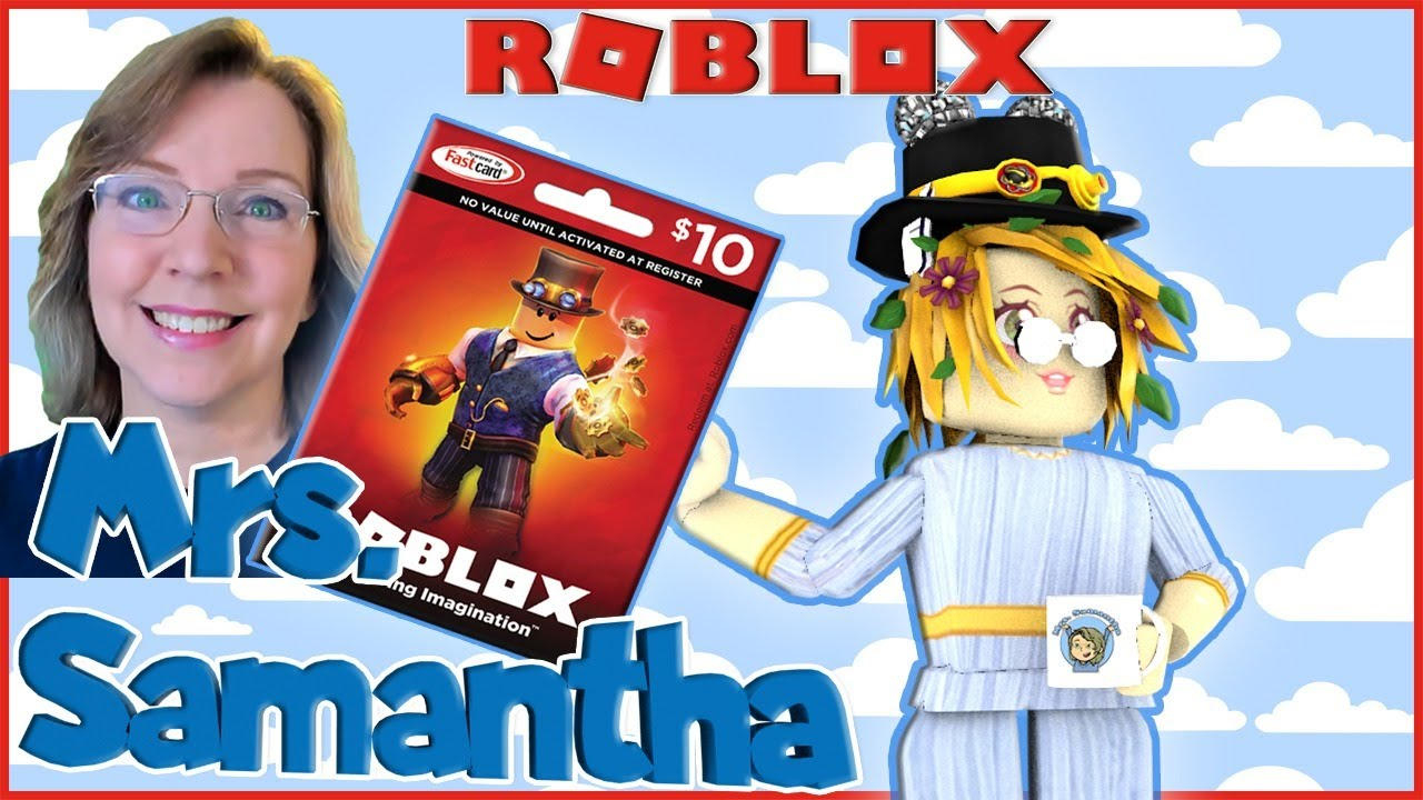 Mrs. Samantha Gaming - Roblox  $10 Gift Card Code Giveaway at end of stream with Mrs. Samantha | toy code