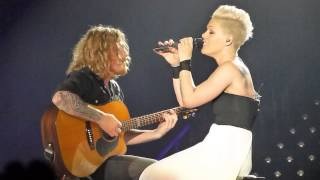 Pink - Who Knew - Live MEN Arena Manchester 14th April 2013