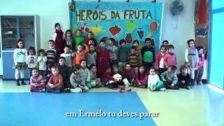 Hino da Fruta 2014/2015 - Turma1 e 2 - J.I Giela -Agrupamento de Escolas de Valdevez
