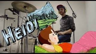 HEIDI - sigle cartoni animati - DRUM COVER | MrSambuCity