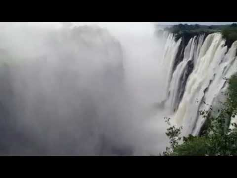 Victoria Falls, waterfall in Africa. Travel to Zambia
