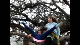 Me falling off a tree with Anna