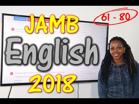 JAMB CBT English 2018 Past Questions 61 - 80