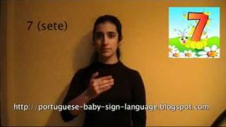 Números de 0 a 10 em Língua Gestual Portuguesa para bebés