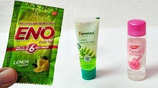 Amazing ENO ROSEWATER NEEM FACE WASH CREAM HACKS Beauty Tips YOU HAD NO IDEA | FAIR SKIN WITH ENO