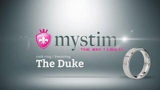 video Erekční kroužek z nerezové oceli Duke - MYSTIM