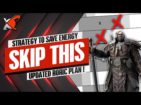 MY STRATEGY TO SAVE ENERGY | Roric Updated Fusion Plan | RAID: Shadow Legends