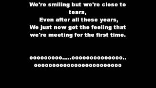 The script for the first time lyrics