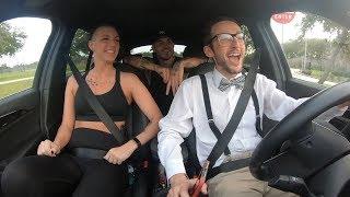 Nerdy Uber driver RAP BATTLES Rider!