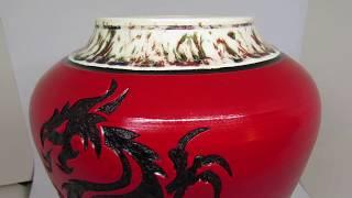 Dragon Memorial Urn by Ceramic Tattoo Art