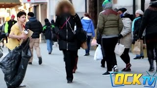 The Freezing Homeless Child - Little Boy Left In The Cold! (Social Experiment)