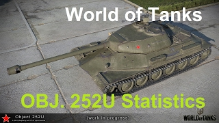 World of Tanks || OBJ. 252U - Release date + Statistics - As of 2/17/17