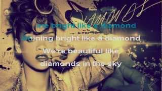 KARAOKE '' DIAMONDS '' RIHANNA (OFFICIAL INSTRUMENTAL) LYRICS