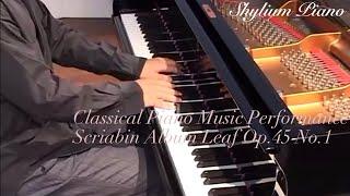 Scriabin Album Leaf Op.45 No.1