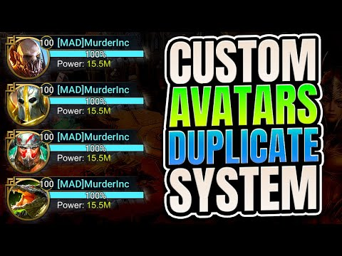 Dupe System and Custom Avatar FAKE NEWS I Raid Shadow Legends