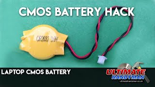 CMOS battery hack | Laptop CMOS battery