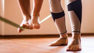 Indoor slackline v Praze Be Balanced