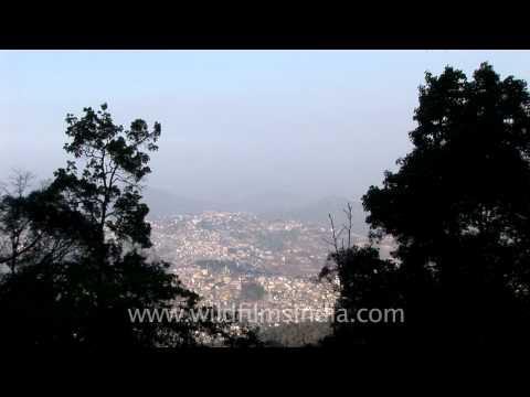 Kohima city view from Jotsoma Village
