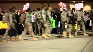 US soldiers returning from Iraq, Ft. Bliss, Texas