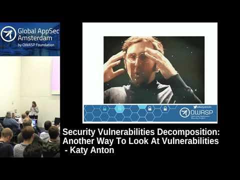 Security Vulnerabilities Decomposition: Another Way To Look At Vulnerabilities - Katy Anton