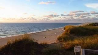 Sunset over Red Cliff Kampen Sylt  2016
