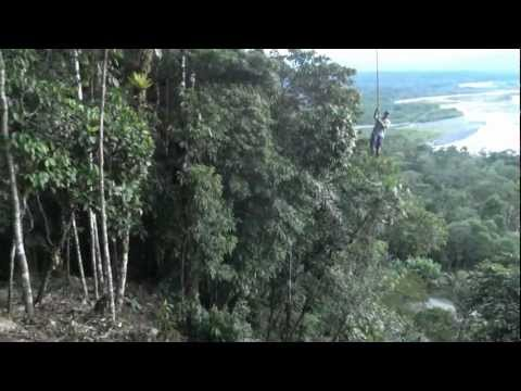 Swinging high over the Amazone in Ecuador