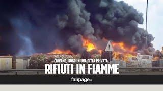 Incendio Caivano, inferno a Pascarola: in fiamme tonnellate di plastica e rifiuti