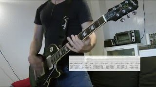 Asking Alexandria - I won't give in Guitar Cover w/Tabs on screen