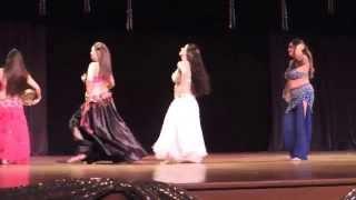 Espetáculo Mistérios do Oriente do Studio de Danças Aida Gamal - Pandeiro (Alegria e Amizade)
