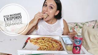PIZZA MUCKBANG 🍕 mangio con voi e rispondo alle vostre domande   Marta Assi