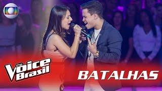 Lariani Acevedo e Luan Douglas cantam 'Te Dar Um Beijo' nas Batalhas – 'The Voice Brasil'