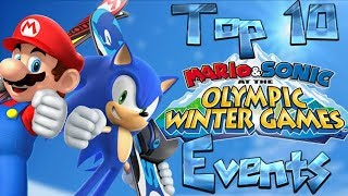 Top 10 'Mario & Sonic at the olympic winter games' Events (Christmas Special 2/3)