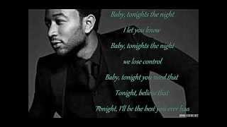 John Legend Ft. Ludacris Tonight w/lyrics