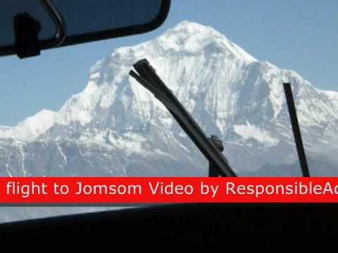 Annapurna and Dhaulagiri range from Jomsom flight.