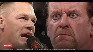 WWE John Cena Teases The Undertaker American Badass RETURN 2018 RAW WWE WRESTLING