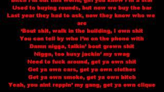 Wiz Khalifa - Work Hard Play Hard (Lyrics On Screen)