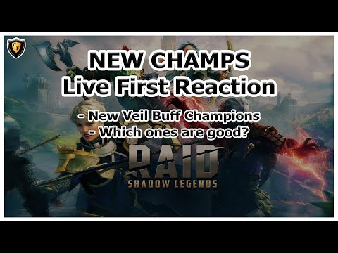 RAID Shadow Legends | NEW CHAMPS | All Individually Graded | Veil Buff Champs
