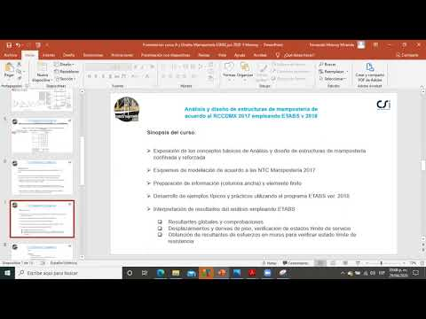 Presentación curso Muros Mampostería con Etabs.