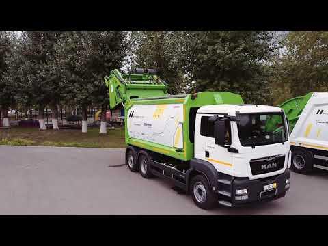 В автопробеге «Чистая страна 2.0» участвуют самые современные мусоровозы