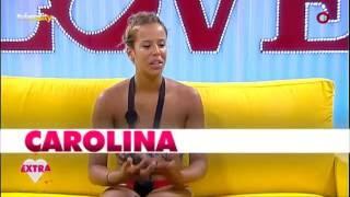 Carolina chora ao discutir com Nandinho