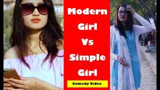 Mordern Girl vs Traditional Girl | Soltini ft. Riyasha, Nepali Short Comedy Movie 2019 | Filmy Guff