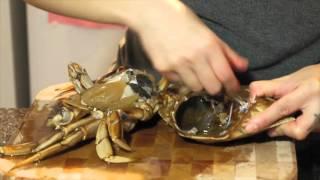 如何處理活蟹  How to kill a live crab humanely and clean it
