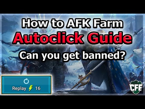 RAID Shadow Legends | How to AFK (Autoclick) Farm | Will you get banned?