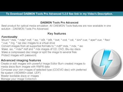DAEMON Tools Pro Advanced 5.2.0 - DAEMON Tools Pro Advanced - Download DAEMON Tools Pro Free