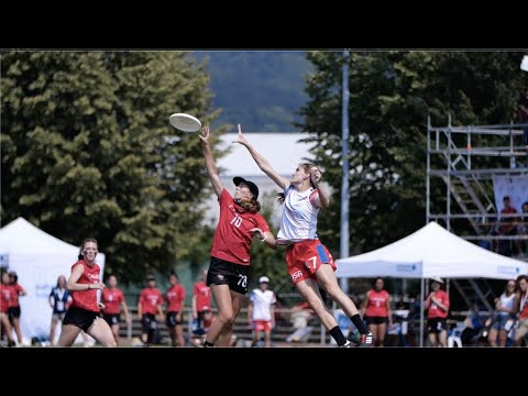 Video Thumbnail: 2019 WFDF World U-24 Championships: USA vs. CAN Women's Highlights