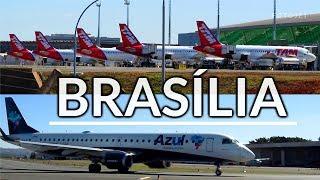 Aviões no Aeroporto de Brasília - Airbus A320 Latam, Airbus Avianca, Embraer 195 Azul - Avião Airbus
