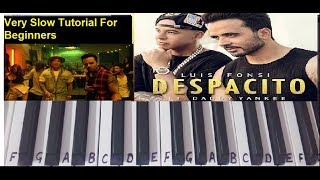 Despacito | Keyboard Cover|Tutorial|Harmonium|Easy